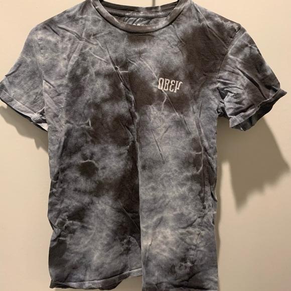 Obey Tops - Grey Tye Dye Obey Shirt